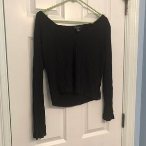 Black V Neck Crop Top - Bought from ASOS